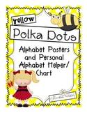Now I know my ABCs-Yellow Polka Dot Alphabet Posters