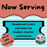 Now Serving Pack: Numbered cards for student conferencing