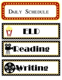 Now Starring. . . Hollywood Daily Schedule Cards *EDITABLE*
