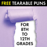 Now, That's Punny! FREE Tearable Pun Sheets, 101 Puns, Bulletin Board Decor