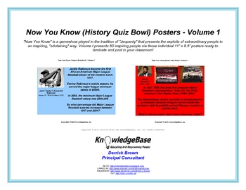 """Now You Know"" Black History Month Posters (Volume 1)"