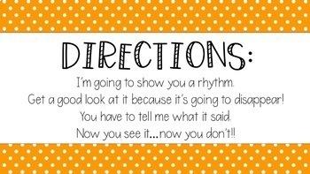Rhythm Reading Activity Quarter Note Eighth Notes Quarter Rest