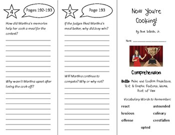 Now You're Cooking! Trifold - Into Reading 4th Grade Module 8 Week 3