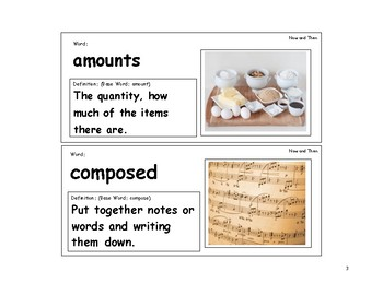 Now and Ben Vocabulary Cards