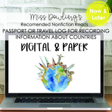 Now and Later Bundle: Passport and Travel Log for Nonfiction Text