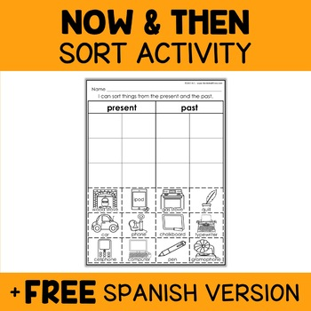 Interactive Sorting - Now and Then Activity