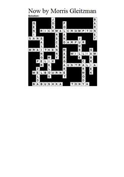 Now by Morris Gleitzman - Crossword Puzzle