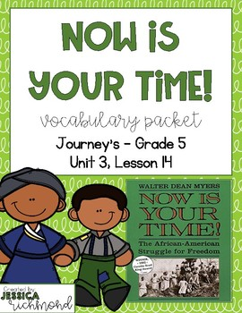 Now is Your Time! - Vocabulary Packet