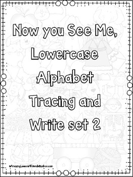 Now you See Me Alphabet Lowercase Trace and Write Set 2