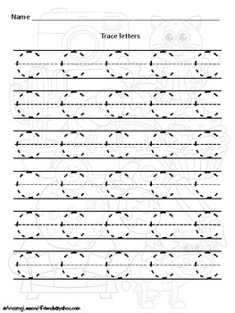 Now you See Me Uppercase Tracing Sheets Set 1