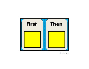 Now/Then Behavior Card for Autism