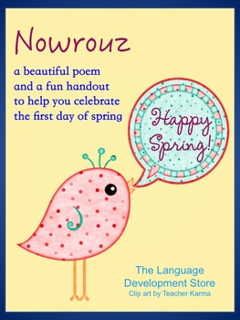 First day of spring! Nowrouz / Norooz Poem Handout