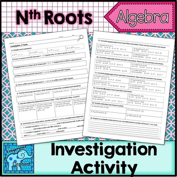 Nth Roots Investigation Activity