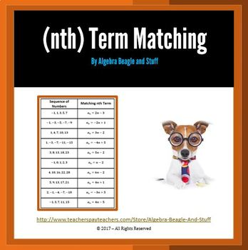 Nth Term Matching Activity