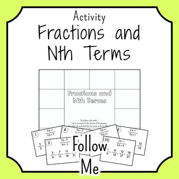Nth Term and Fractions FOLLOW ME