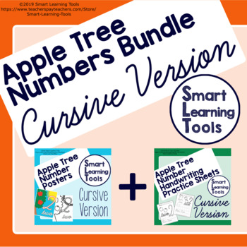 Nubers Cursive Bundle for Handwriting and Posters