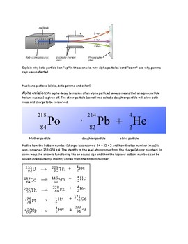 Nucear chemistry Pascket/Handout with examples