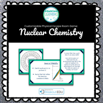 Nuclear Chemistry Customizable Escape Room / Breakout Game