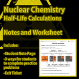 Nuclear Chemistry - Half-Life Activity and Worksheet