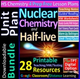 Nuclear Chemistry, Half-life Topic Bundle: 5 Essential Skills Worksheets