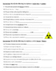 Nuclear Chemistry - Review Worksheet (Fusion, Fission, Alpha, Beta, Gamma Decay)