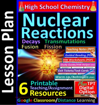 Nuclear Decay Particles & Reactions: Essential Skills Worksheet#54 & 55