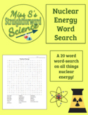 Nuclear Energy 20 Word Word-Search