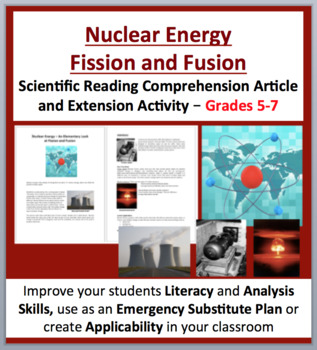 Nuclear Energy – Fission and Fusion - Science Reading Arti