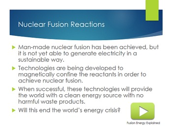 Nuclear Energy: Nuclear Fusion and Fission - PowerPoint and Note [EDITABLE]