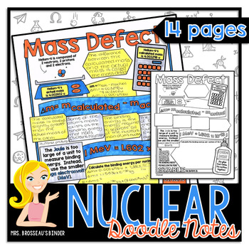 Nuclear Energy - Physics Doodle Notes