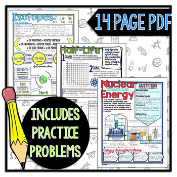 Nuclear Energy - Physics Doodle Notes & Anchor Charts