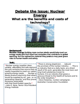 Nuclear Energy What are the benefits and costs of technology?
