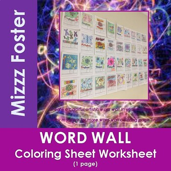 Nuclear Energy Word Wall Coloring Sheet