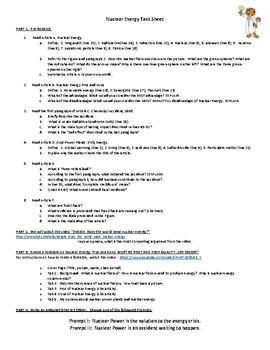 Nuclear Energy Argumentative Essay Writing Tasks