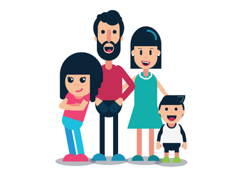 Nuclear Family White Background By Clipart By Digistration Tpt
