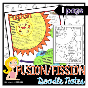 Nuclear Fusion and Nuclear Fission: Nuclear Energy - Physics Doodle Notes