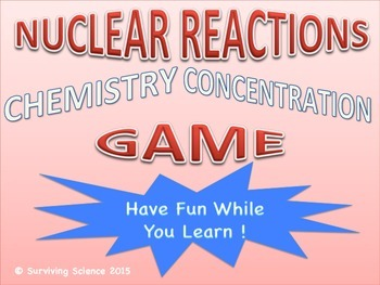 Nuclear Reactions Chemistry Concentration Game Review