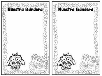 Nuestra Bandera- A Patriotic Poem Craftivity in Spanish