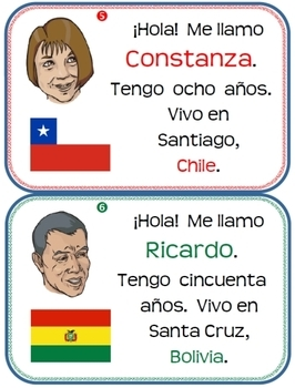 Nuestros Amigos classroom display of Spanish-speaking countries