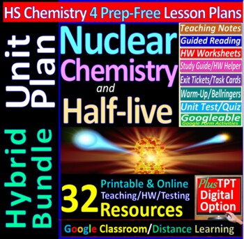 Nulcear Chemistry - Engaging & Easy-to-learn Guided Study notes for HS Chemistry