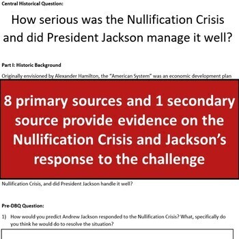 Nullification Crisis DBQ