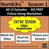 Numb3rs™ Entire Season 1 BUNDLE Follow-Along Worksheets