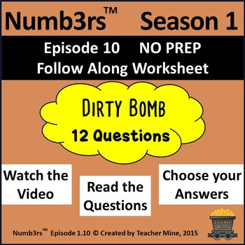 Numb3rs Season 1 Episode 10 Dirty Bomb Follow Along Worksheet By