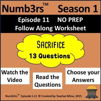Numb3rs™ Season 1 Episode 11 Sacrifice Follow-Along Worksheet
