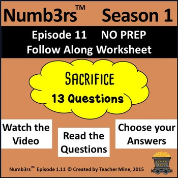 Numb3rs™ Season 1 Episode 11 Sacrifice Follow-Along Worksheet