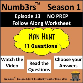 Numb3rs™ Season 1 Episode 13 Man Hunt Follow-Along Worksheet