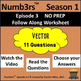 Numb3rs™  Season 1 Episode 3 Vector Follow-Along Worksheet