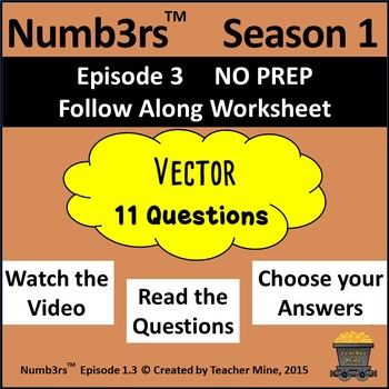 Numb3rs™  Season 1 Episode 3 Vector Follow-Along Worksheet