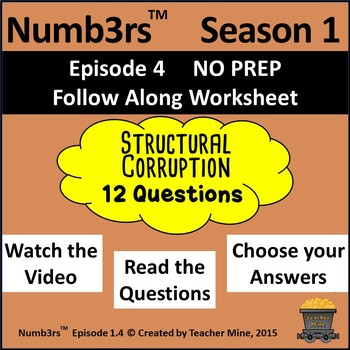 Numb3rs™  Season 1 Episode 4 Structural Corruption Follow-Along Worksheet