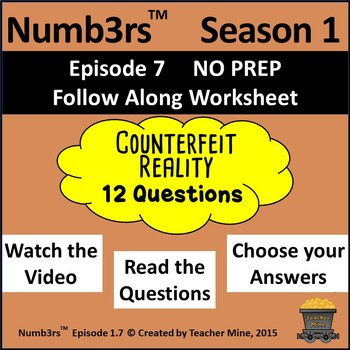 Numb3rs™  Season 1 Episode 7 Counterfeit Reality Follow-Along Worksheet